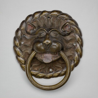 Door Pull in the Form of a Lion's Head