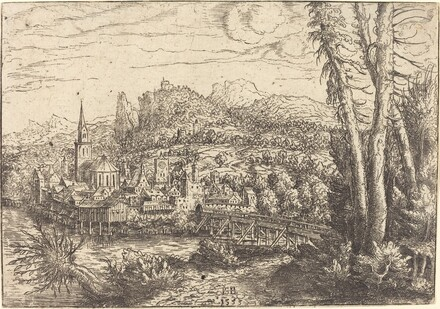 View of a City near a River