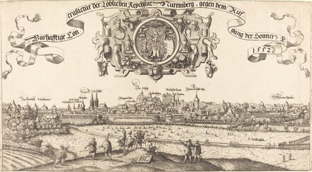 View of Nuremberg from the East [center section]
