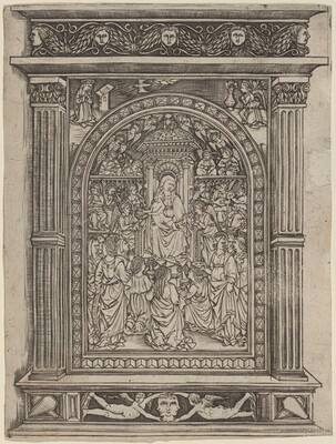 The Virgin and Child Enthroned, with Angels and Saints