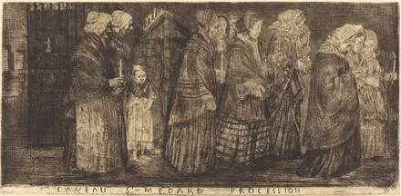 Procession in the Sepulchre of Saint Medard(Procession dans le caveaux de St.-Medard)