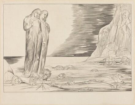 The Circle of the Traitors; Dante's Foot Striking Bocca degli Abbate