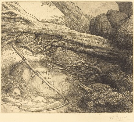 Avalanche: Frontispiece for Triumph of Death (L'avalanche: Frontispice du Triomphe dela mort