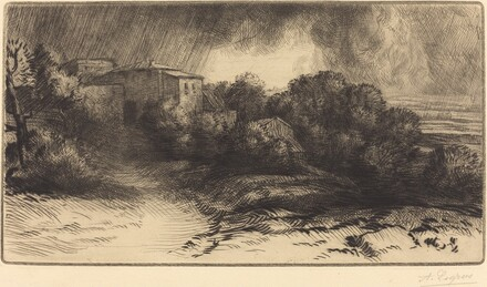View of a Farm Seen in a Storm (La ferme de Brieux (Effet d'orage))