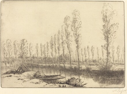 Poplars near Amiens (Pres d'Amiens, les tourbieres)