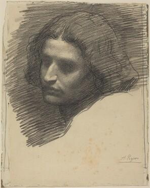 Head of a Man Facing Left [recto]