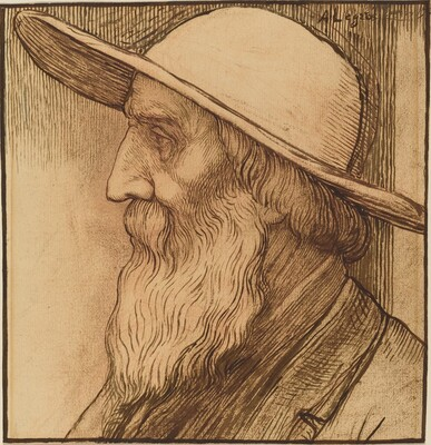 Head of an Old Man with a Wide-Brimmed Hat