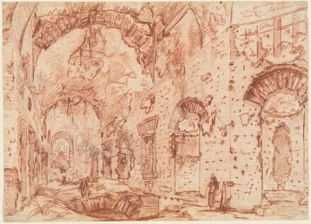The Canopus of the Villa Adriana at Tivoli