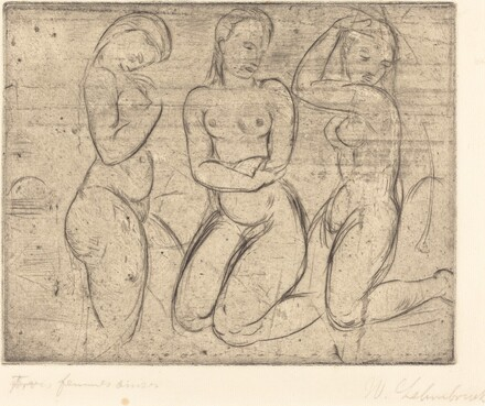Three Kneeling Women (Drei Frauen knied)