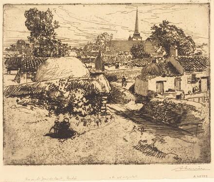View of St.-Jean-de-Mont, Vendee (Vue de St.-Jean-de-Mont, Vendee)