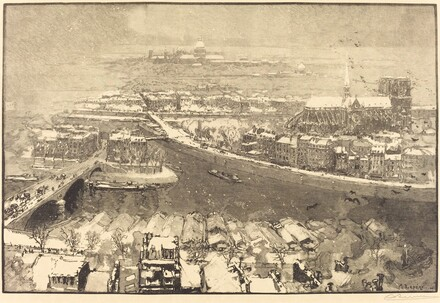 Paris under Snow, View from St.-Gervais (Paris sous la neige, vu du haut de St.-Gervaais)