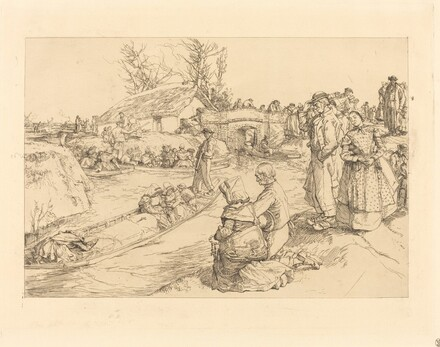 Burial in the Vendeen Marsh (Un enterrement dans le marais Vendeen)