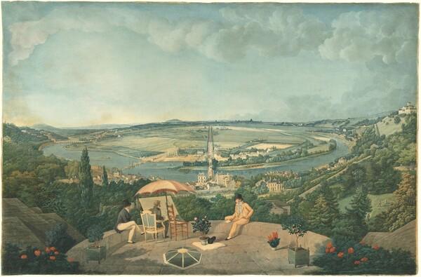 View of Paris from the Terrace of the Pavillon de Brimborion
