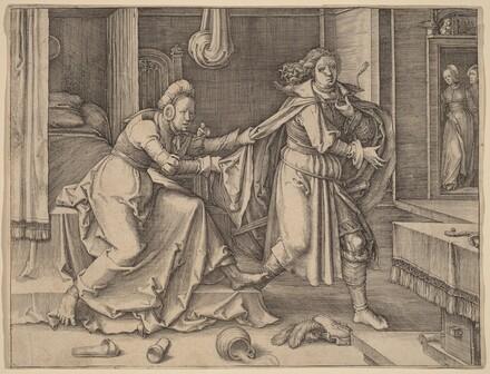 Joseph Escaping Potiphar's Wife