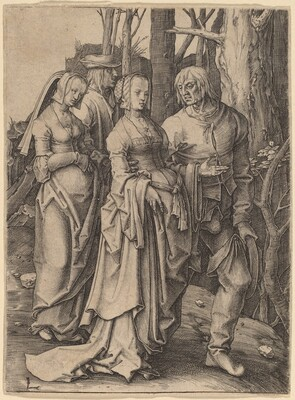 The Two Couples in the Forest