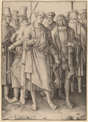 A Young Man with Eight Armed Men
