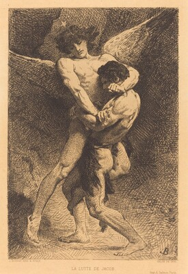 La Lutte de Jacob (Jacob Wrestling with the Angel)