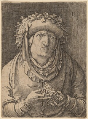 The Old Woman with Grapes