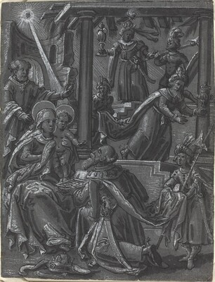 The Adoration of the Kings [recto]