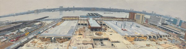 Bird's Eye View of the New York Convention Center under Construction