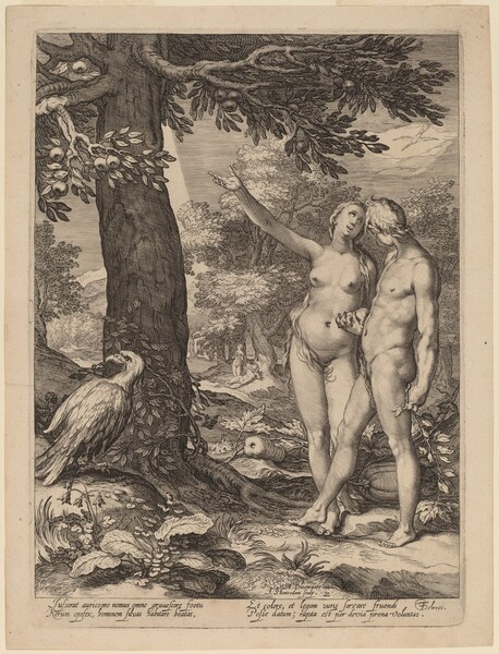 Adam and Eve before the Tree of Knowledge