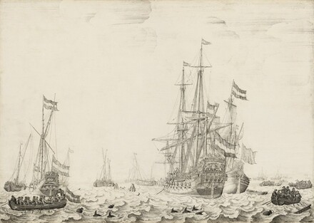 Dutch Ships near the Coast