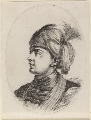 Young Moor in a Feathered Turban, Turned to the Left