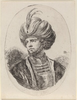 Young Moor with a Slight Beard and Feathered Turban, Turned to the Left