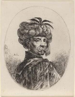 Moor in a Turban Trimmed with Five Feathers