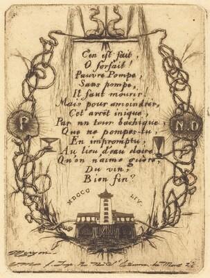 La petite pompe, Paris (The Notre Dame Pump, small plate)