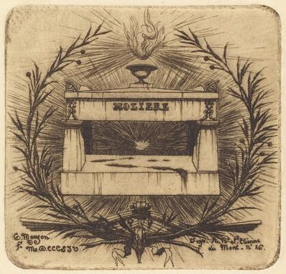 Le tombeau de Molière, au Père-Lachaise, Paris (Moliere's Tomb, in Père-Lachaise Cemetary, Paris)