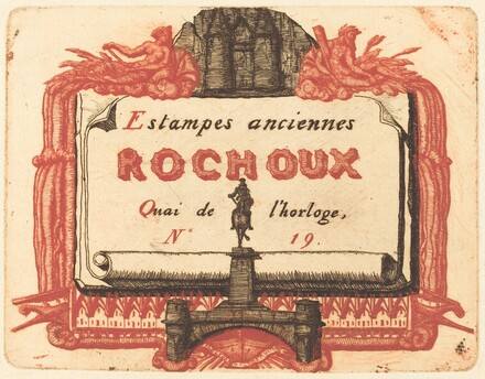 Adresse de Rochoux, Marchand d'estampes (The Address-Card of Rochoux, a Printseller)