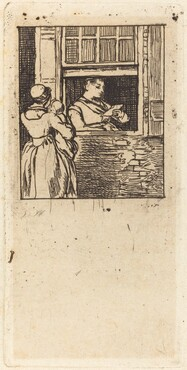 Woman at a Window, Reading a Letter