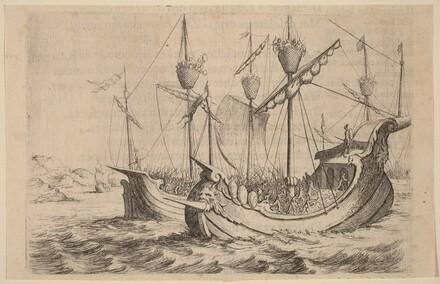 Hannibal's Navy Battling the Rhodians