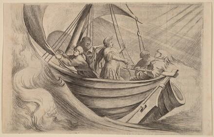 Caesar Crossing Stormy Seas