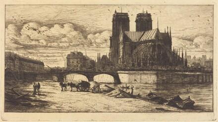 L'abside de Notre-Dame de Paris (The Apsis ofthe Cathedral of Notre-Dame, Paris)