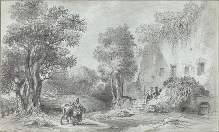 Landscape with Peasants before an Inn