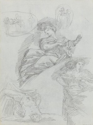 Studies of Figures [verso]