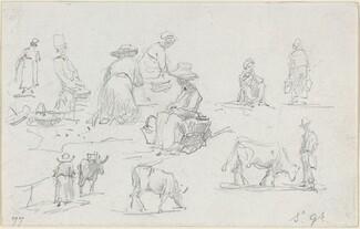 Peasants and Cows [recto]