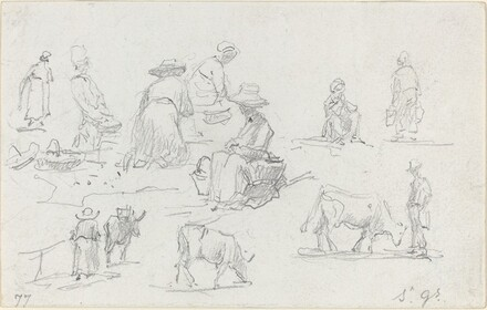 Peasants and Cows [recto]