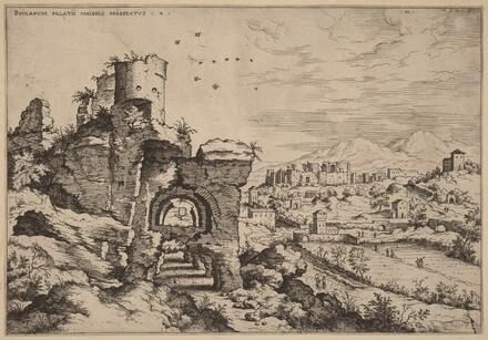Ruins on the Palatine, Looking toward the Baths of Caracalla