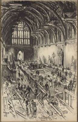 Preparations for the Lying in State of Edward VII