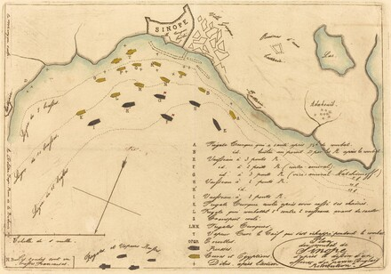 Plan du Combat de Sinope (Plan of the Battle of Sinope)