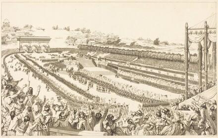 Federation Generale de Francais au Champ de Mars le 14 juillet 1790