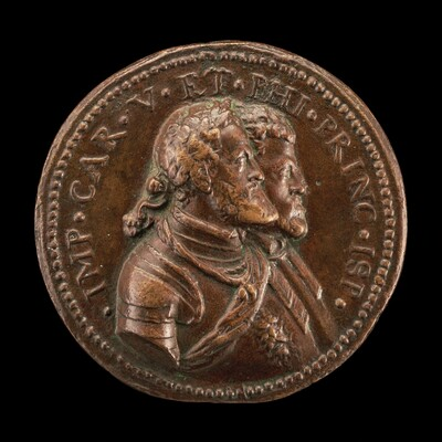 Charles V, King of Spain and Holy Roman Emperor, and Prince Philip of Spain [obverse]