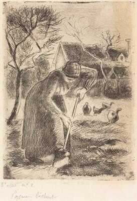 Paysanne bêchant (Peasant Laboring)