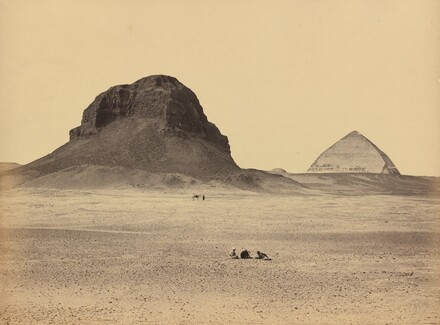 The Pyramids of Dahshoor From the East