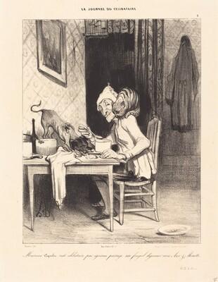 Monsieur Coquelet... partage son... déjeuner
