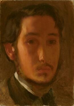 Edgar Degas, Self-Portrait with White Collar, c. 1857c. 1857