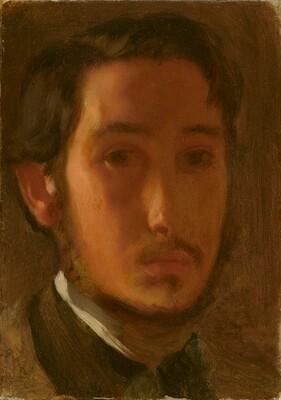 Self-Portrait with White Collar